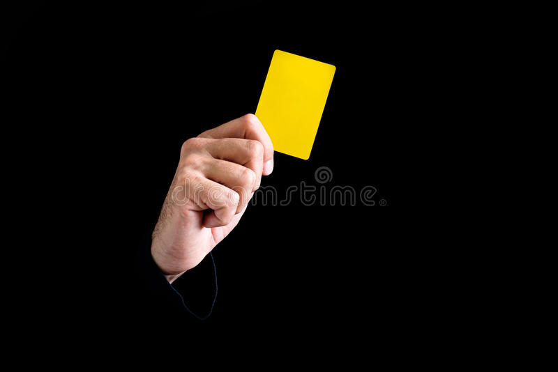 Yellow Card Stock Photography