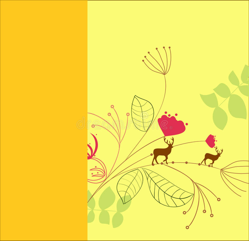 Yellow card template stock photo