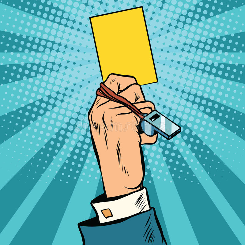Free Yellow Card Warning Business Concept Stock Photography - 73903682