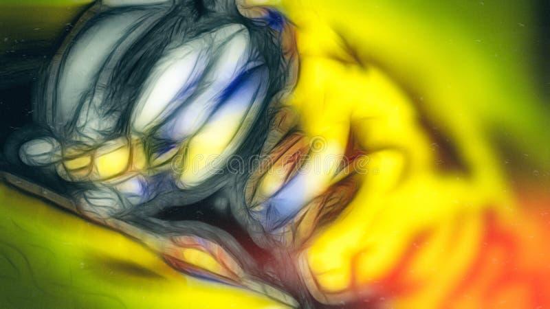 Yellow Cartoon Fictional Character Background Beautiful elegant Illustration graphic art design Background. Image royalty free illustration