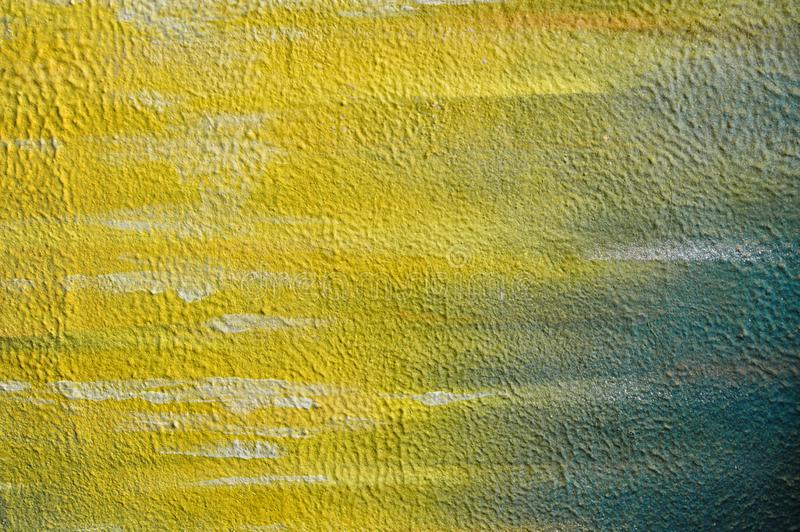 Yellow cement surface wall texture for background , Concrete wall.Old stucco texture royalty free stock photography