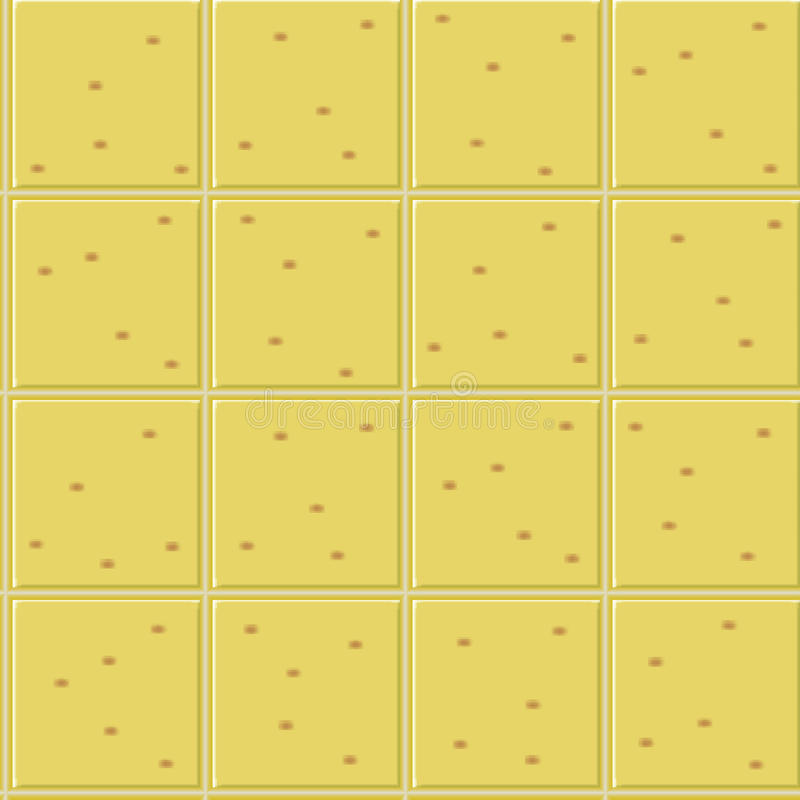 Yellow ceramics seamless pattern royalty free stock images