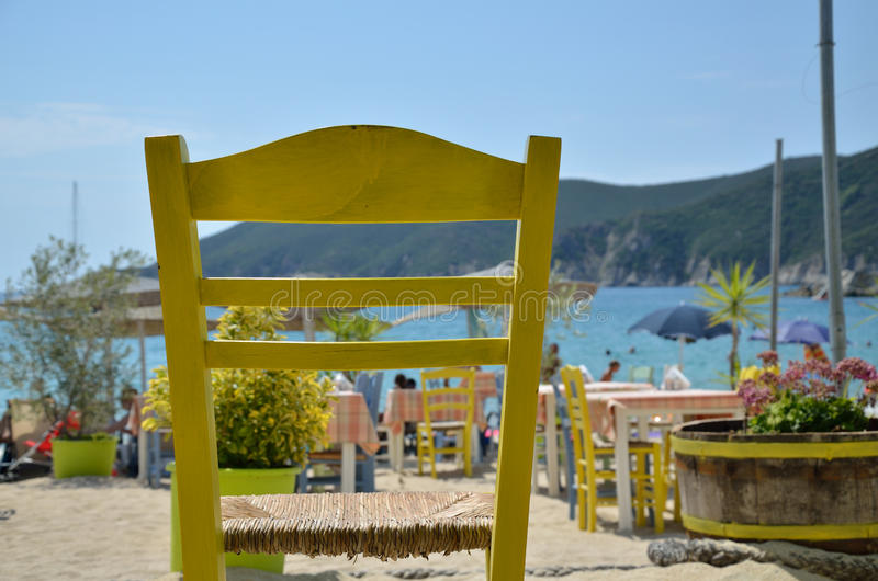 Yellow chair royalty free stock image