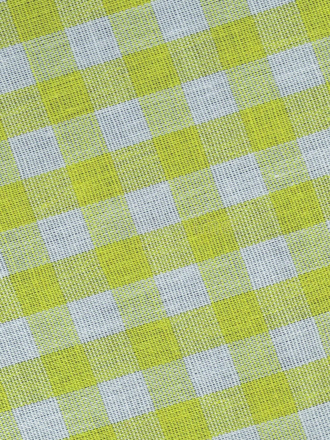 Download Yellow checkered fabric stock image. Image of decorative - 10630689