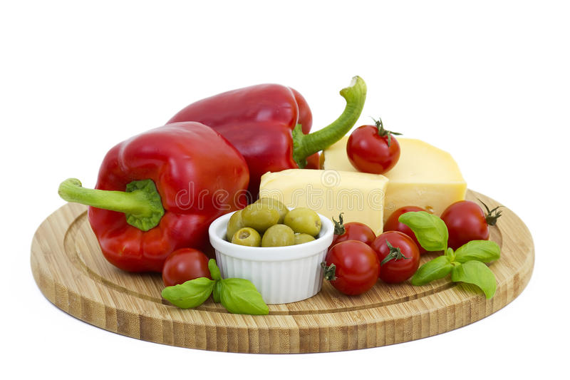 Yellow Cheese With Fresh Vegetables Stock Image - Image of ...
