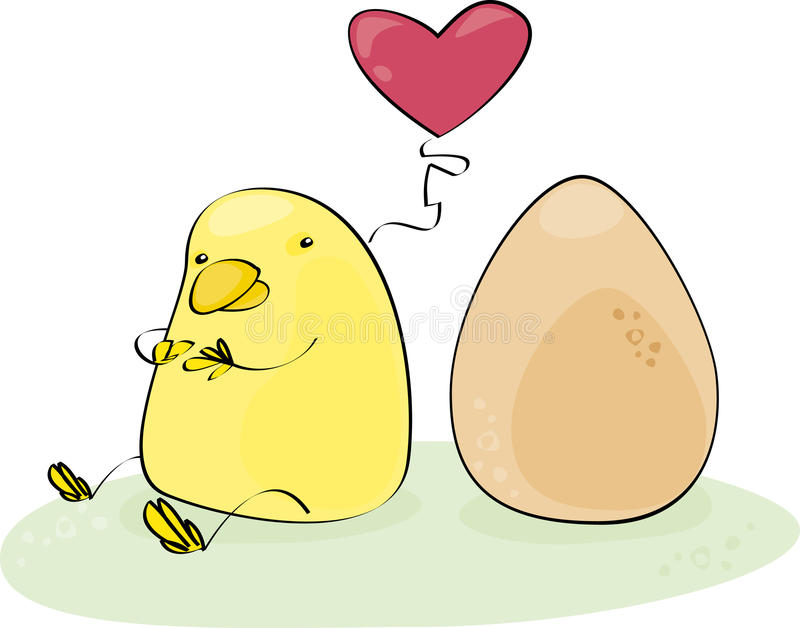 Download Yellow chick stock vector. Image of heart, yellow, easter - 13558421