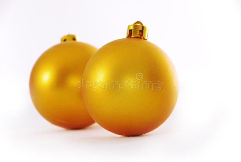 Yellow Christmas Ball Royalty Free Stock Photography