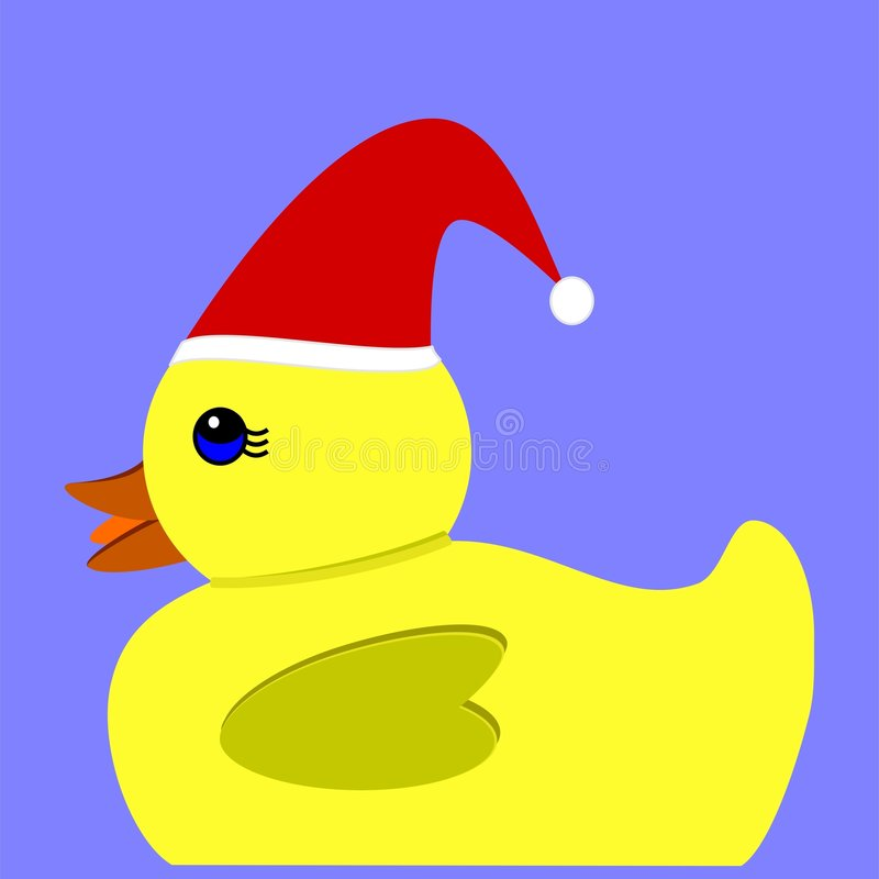 Download Yellow Christmas duck stock vector. Image of decoration - 7261655