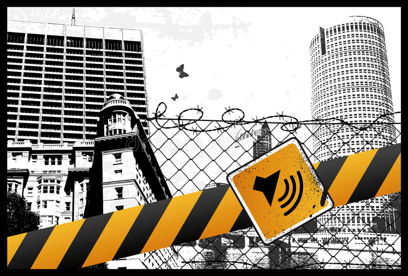 Yellow City Sign stock illustration