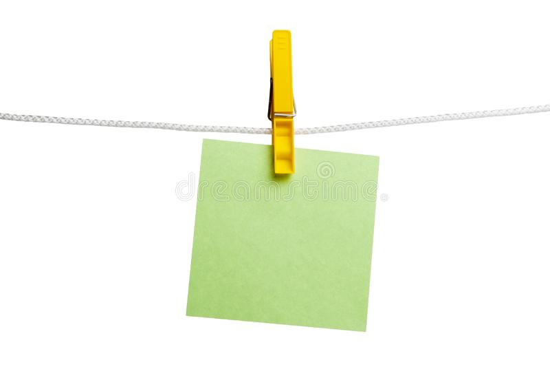 Yellow clothespin stock photos