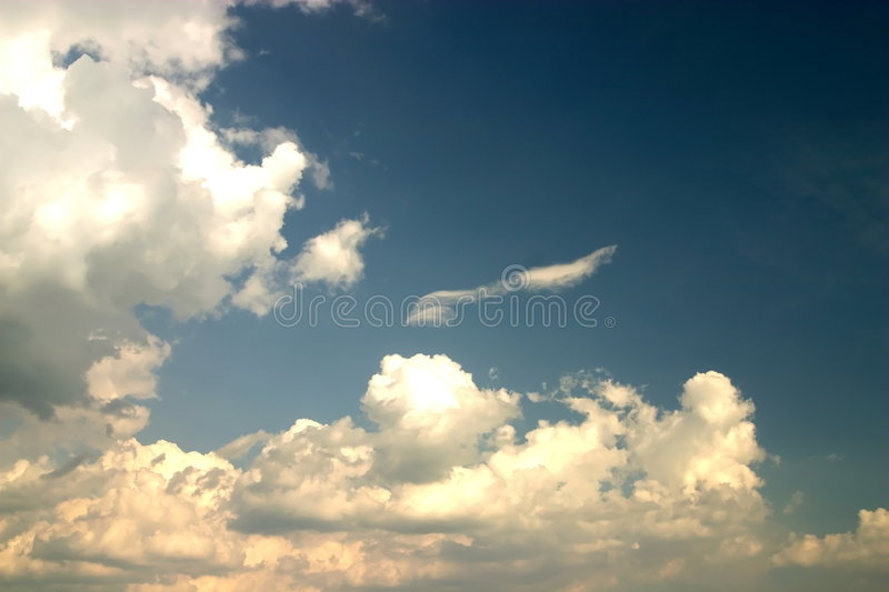 Yellow clouds royalty free stock images