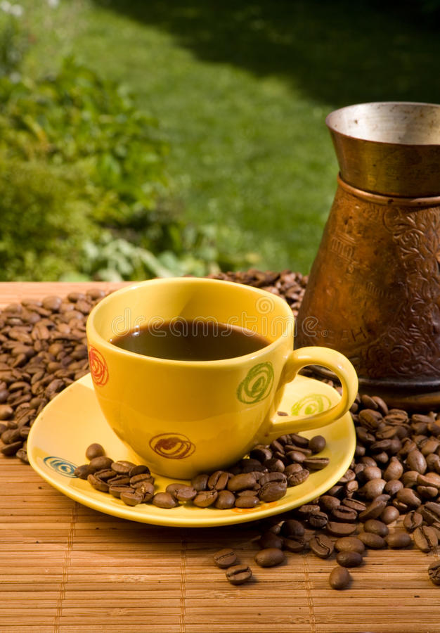 Download Yellow Coffee Cup Royalty Free Stock Image - Image: 10829466
