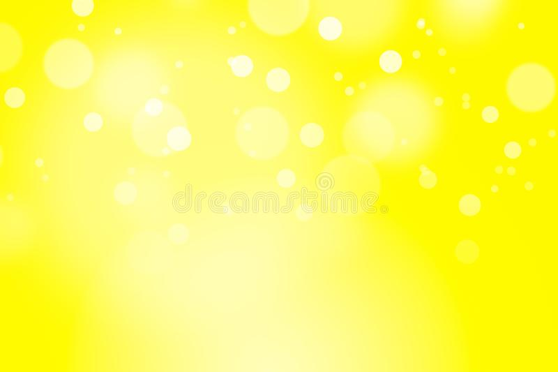 Yellow color background with bokeh. stock image