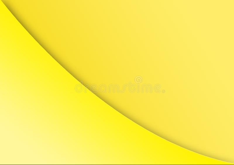Yellow color background with curved line cutting across. For use with designs royalty free stock images
