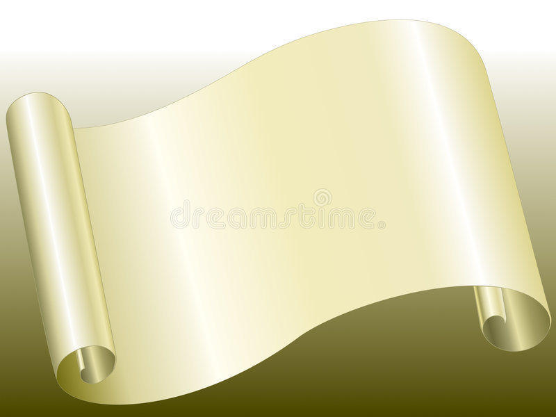 Yellow color paper bended stock illustration