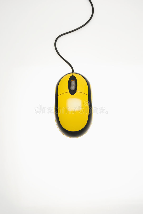 Free Yellow Computer Mouse Stock Images - 6357294