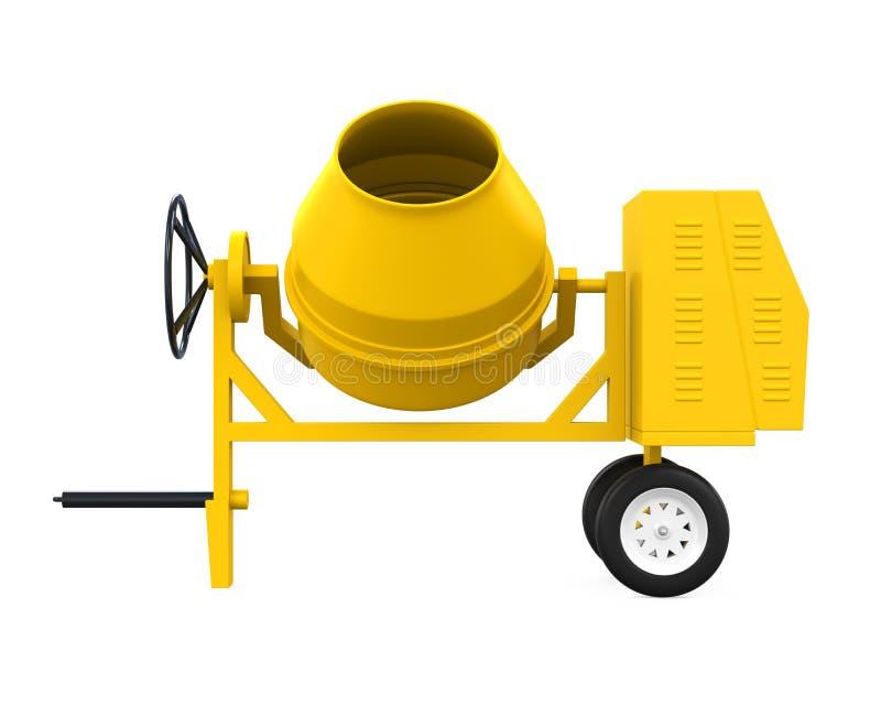 Yellow Concrete Mixer stock illustration. Illustration of ...
