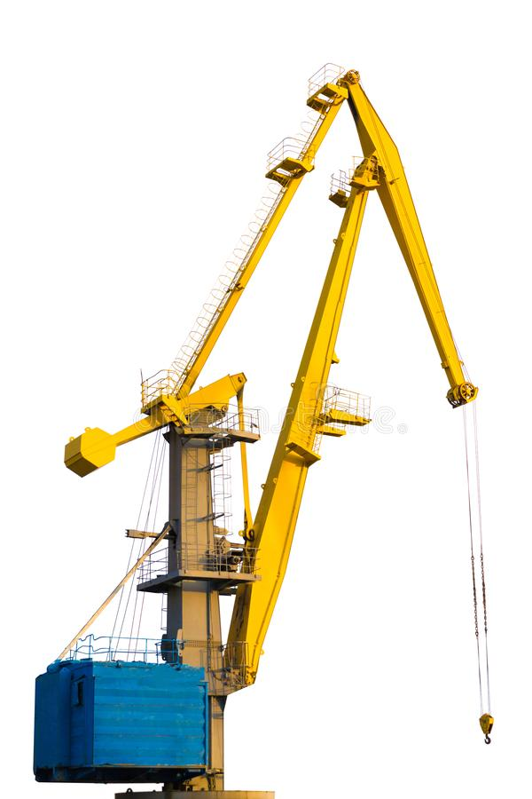 Free Yellow Construction Crane Isolated On White Background Stock Images - 128685604