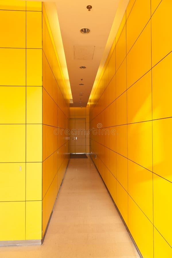 Download Yellow Corridor Stock Image - Image: 23087361
