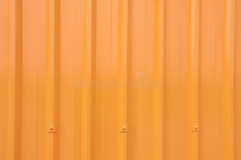 Yellow Corrugated Longrun Iron Stock Images