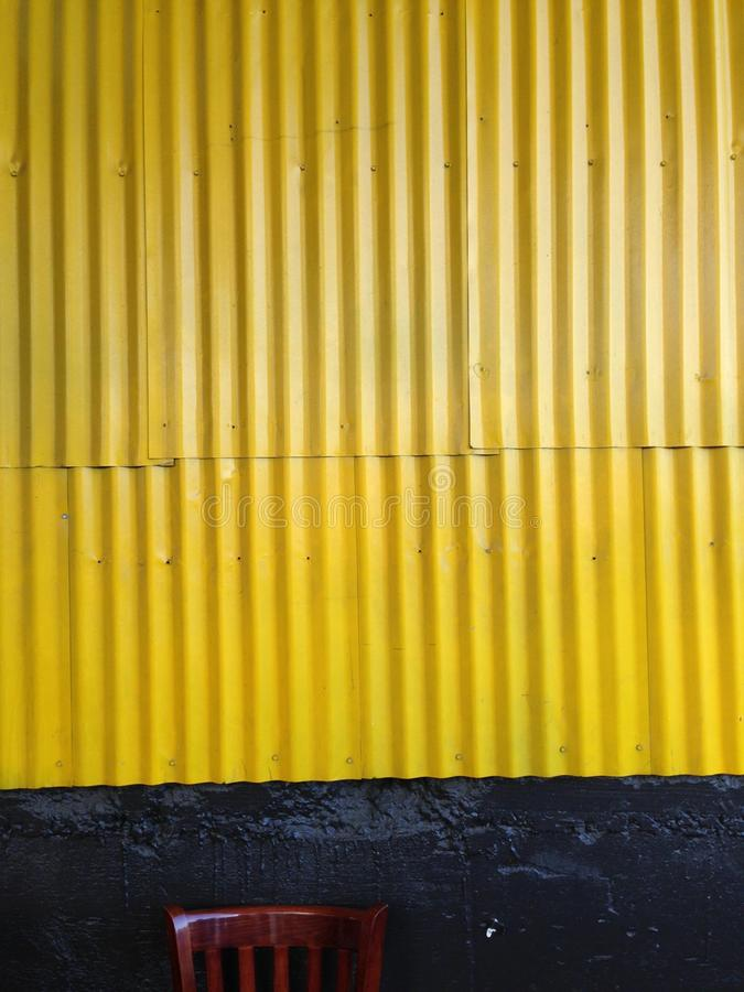 Yellow Corrugated Metal Wall Stock Image Image of bolts texture