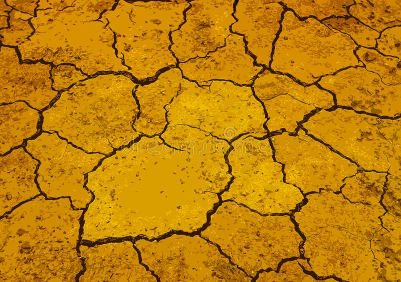Yellow cracked textured colored background design royalty free stock photography
