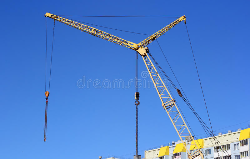 Download Yellow crane stock image. Image of business, architecture - 25197095