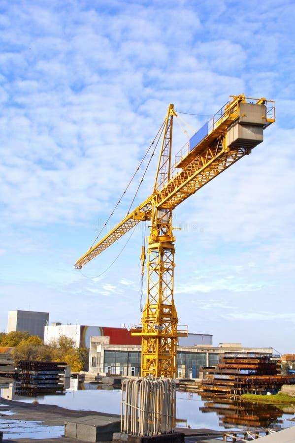 Yellow crane stock photography