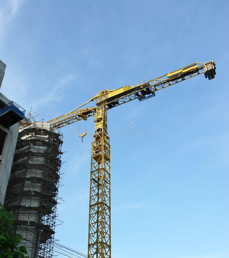 Yellow crane royalty free stock image