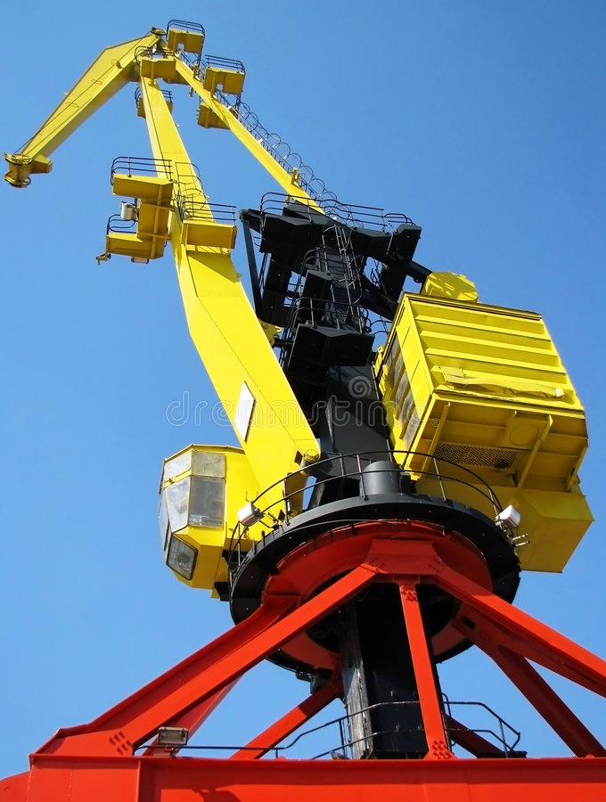 Download Yellow crane stock image. Image of yellow, industry, architecture - 5773477