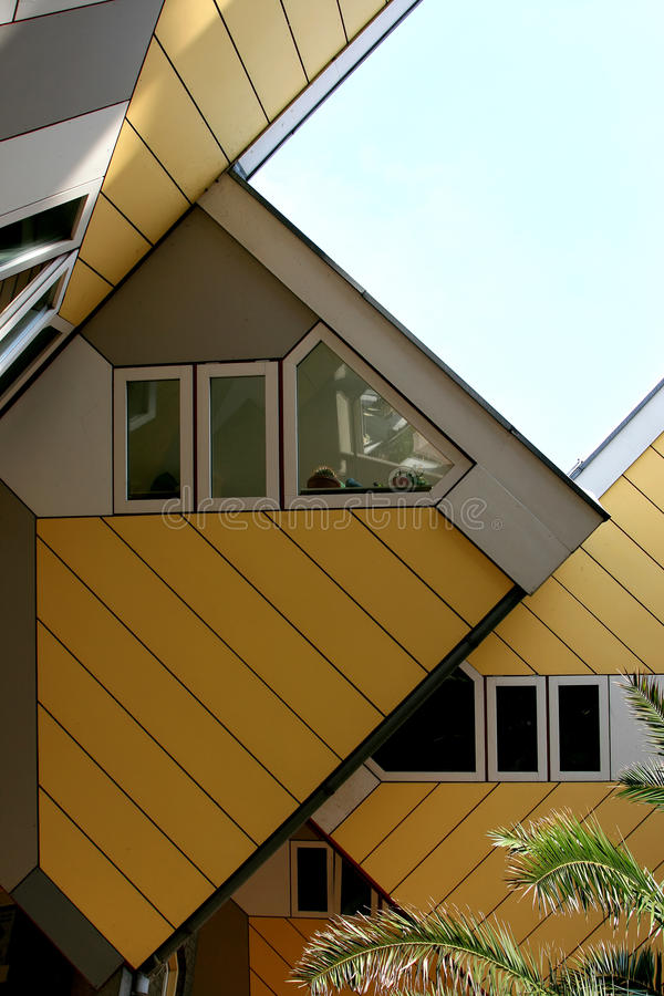 Free Yellow Cube Houses In Rotterdam, Holland Stock Image - 15285441
