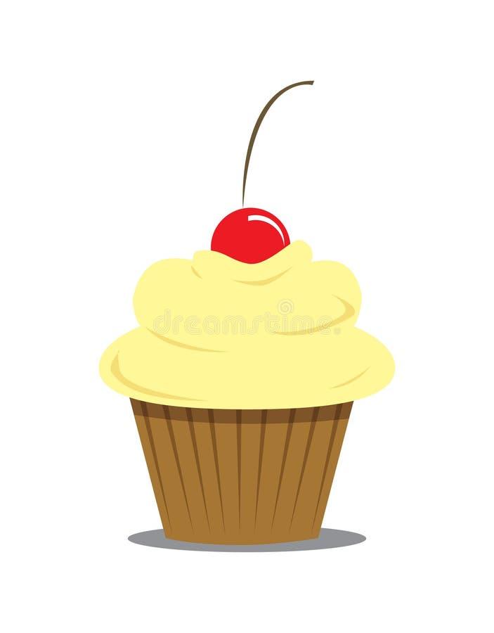Yellow Cupcake Royalty Free Stock Image