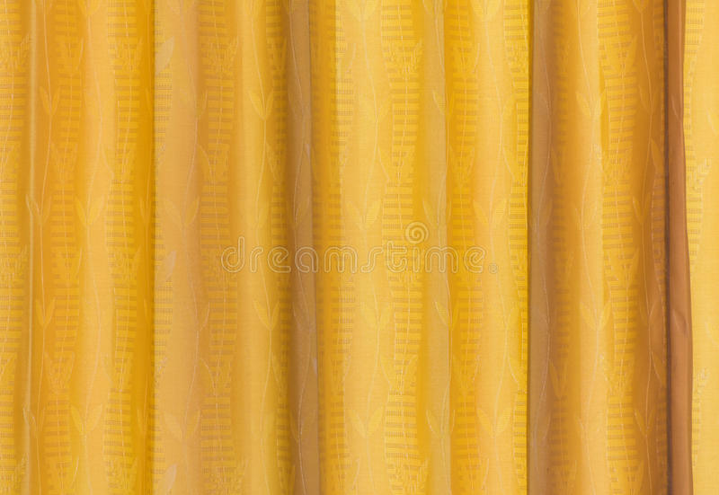 Yellow Curtain Fabric Texture For Background Stock Photo - Image ...