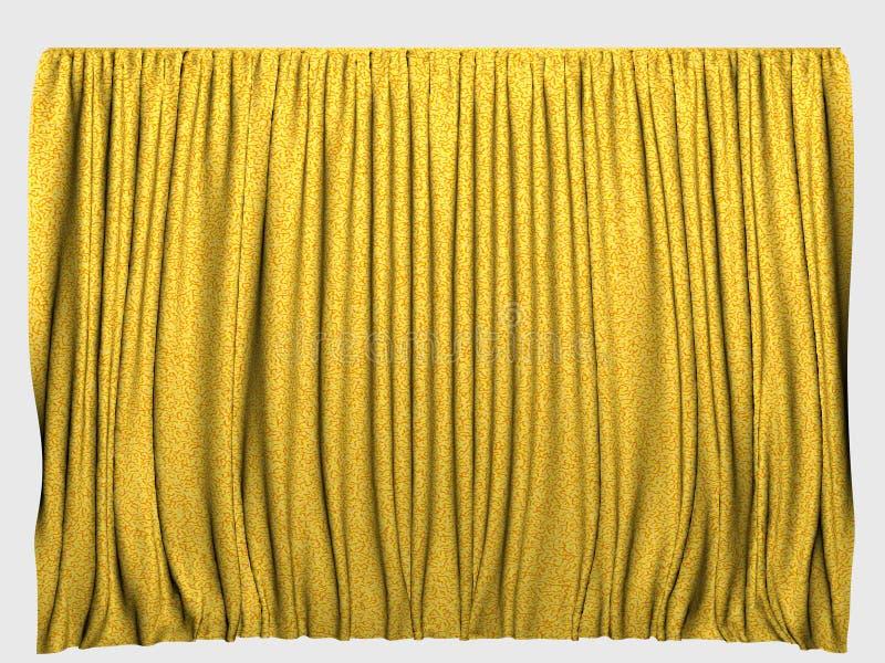 Yellow curtains stock photo