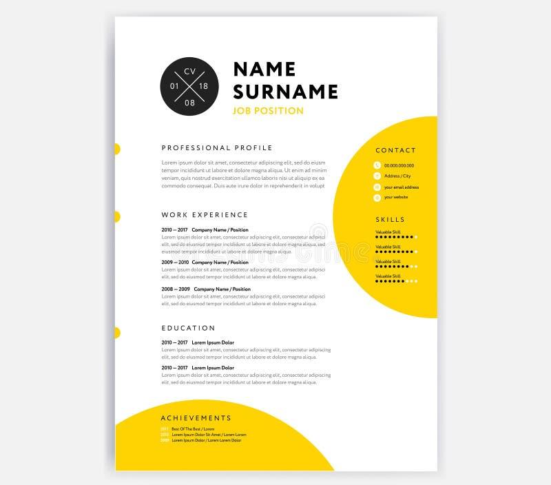 curriculum vitae useful design elements set