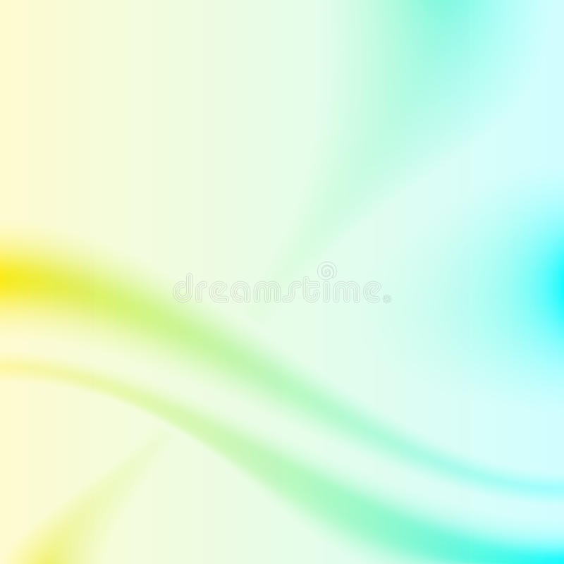 Yellow and cyan background royalty free illustration