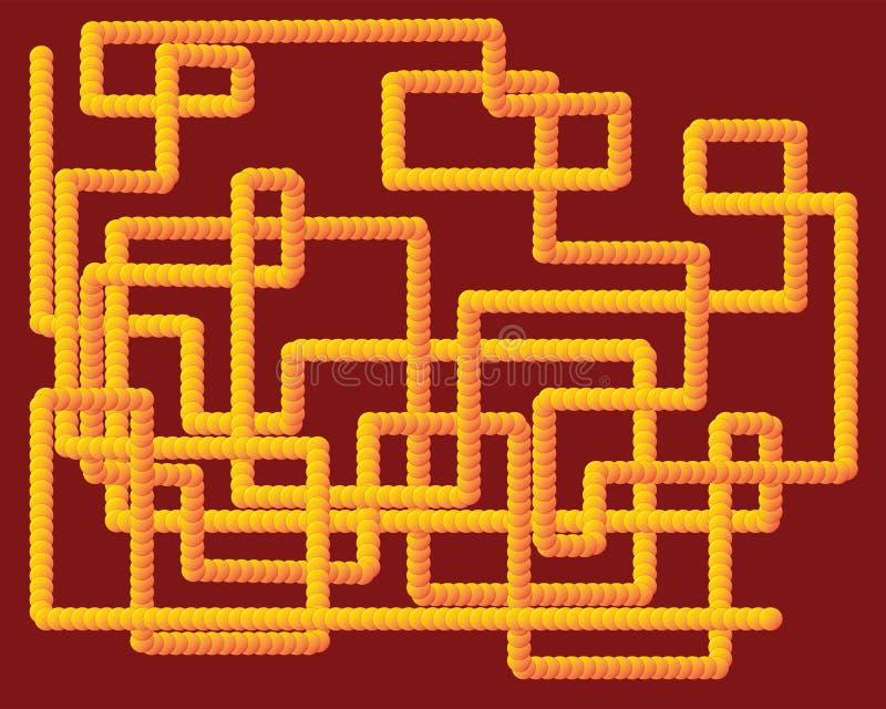 Yellow 3D tube design vector illustration