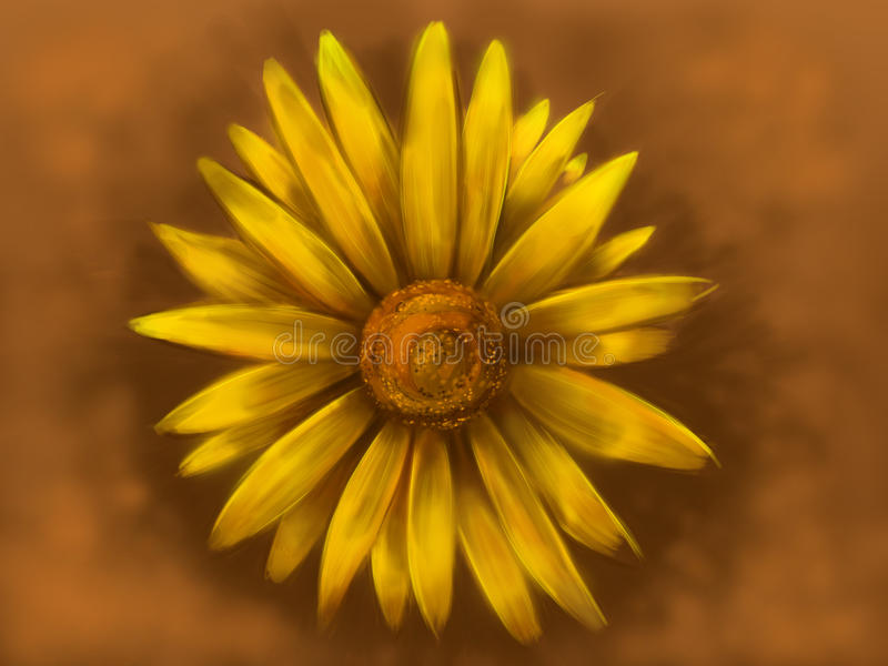 Download Yellow Daisy stock illustration. Image of single, plant - 15762289