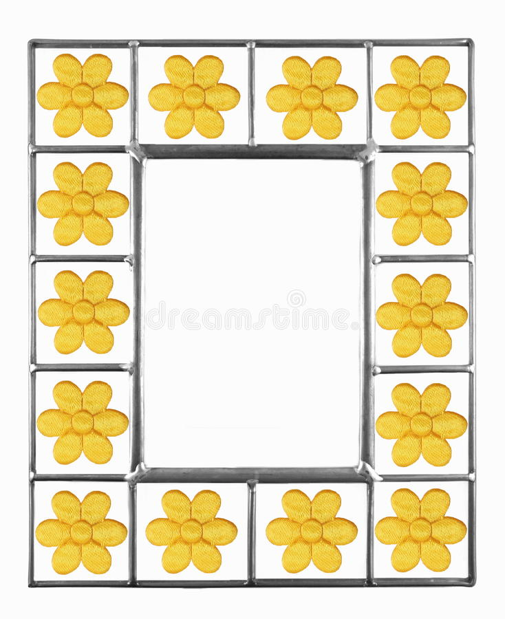 Yellow Daisy Picture Frame royalty free stock image