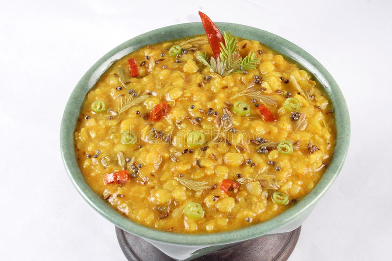 Download Yellow dal stock photo. Image of indian, mint, fried - 19160048