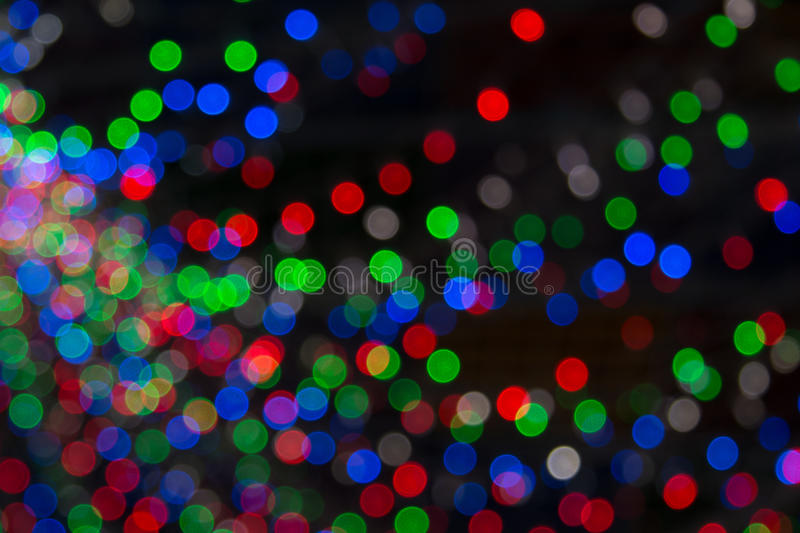 Yellow Dark Red Blue Background Christmas Lights In