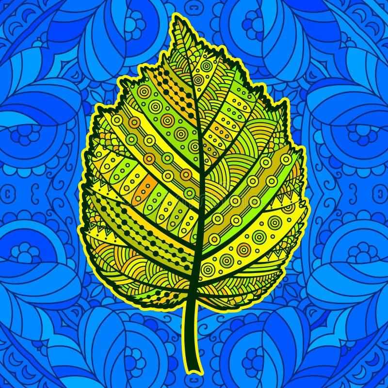 Yellow decorative leaf. royalty free illustration