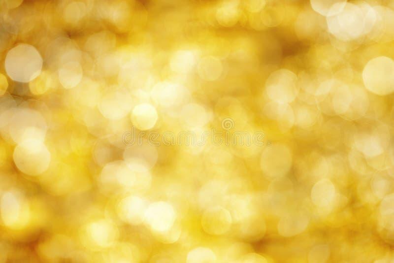 Yellow defocused lights stock photography