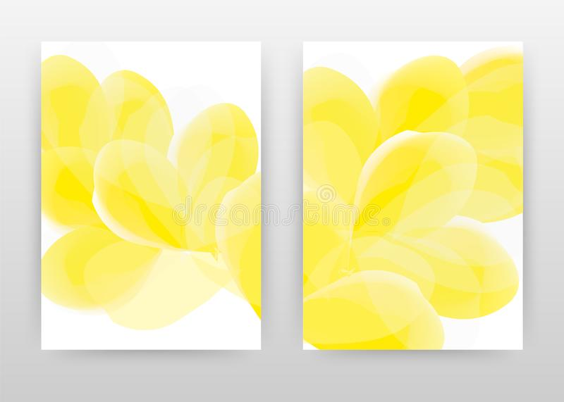 Yellow design of annual report, brochure, flyer, poster. Yellow flower petal background vector illustration for flyer, leaflet,. Poster. Business abstract A4 stock illustration