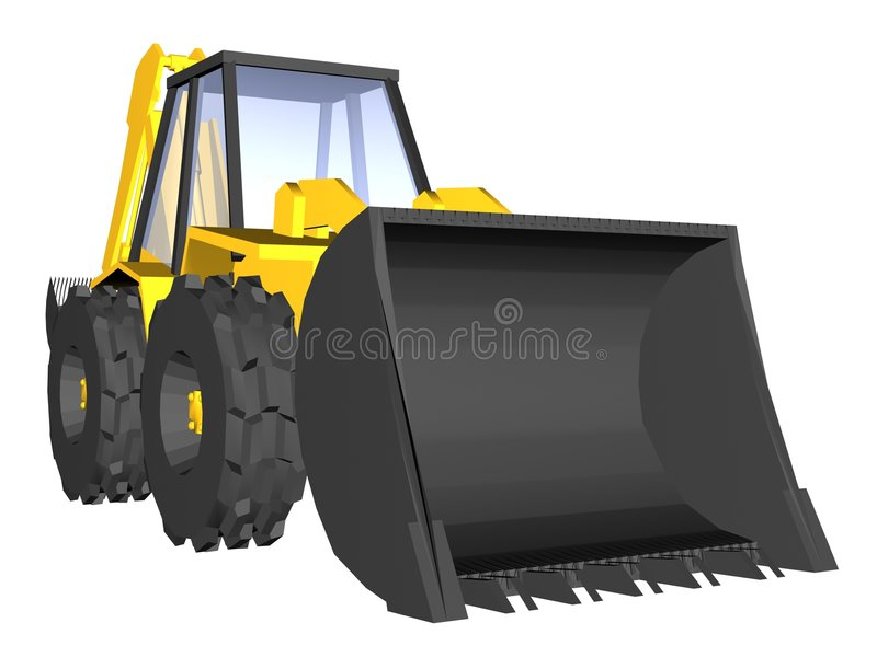 Yellow digger stock illustration