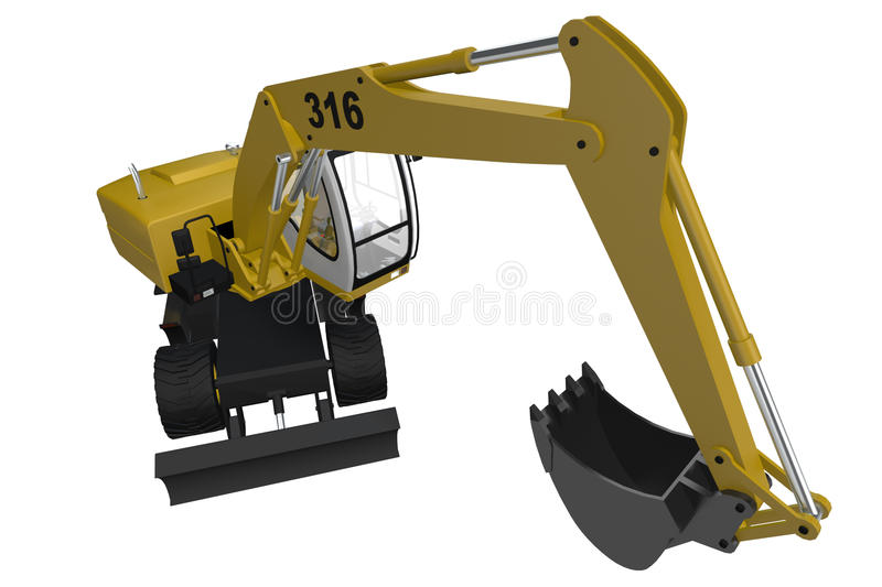 Yellow Digger vector illustration