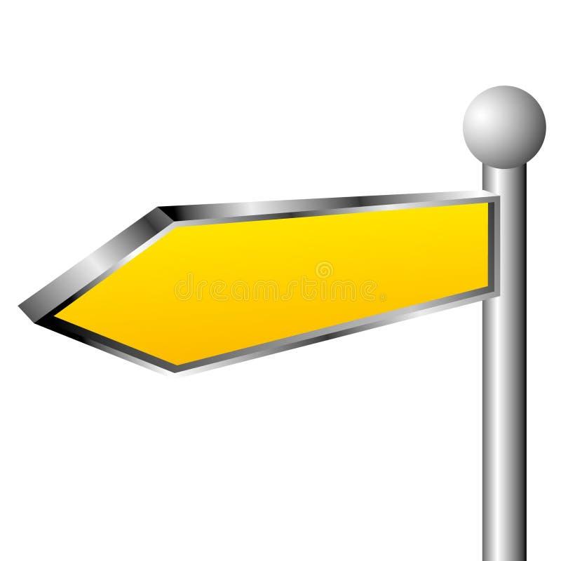 Yellow direction sign. Abstract illustration stock illustration