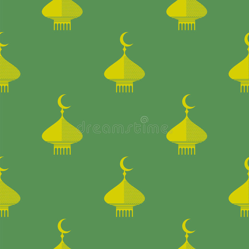 Yellow Dome Icon Seamless Pattern royalty free illustration