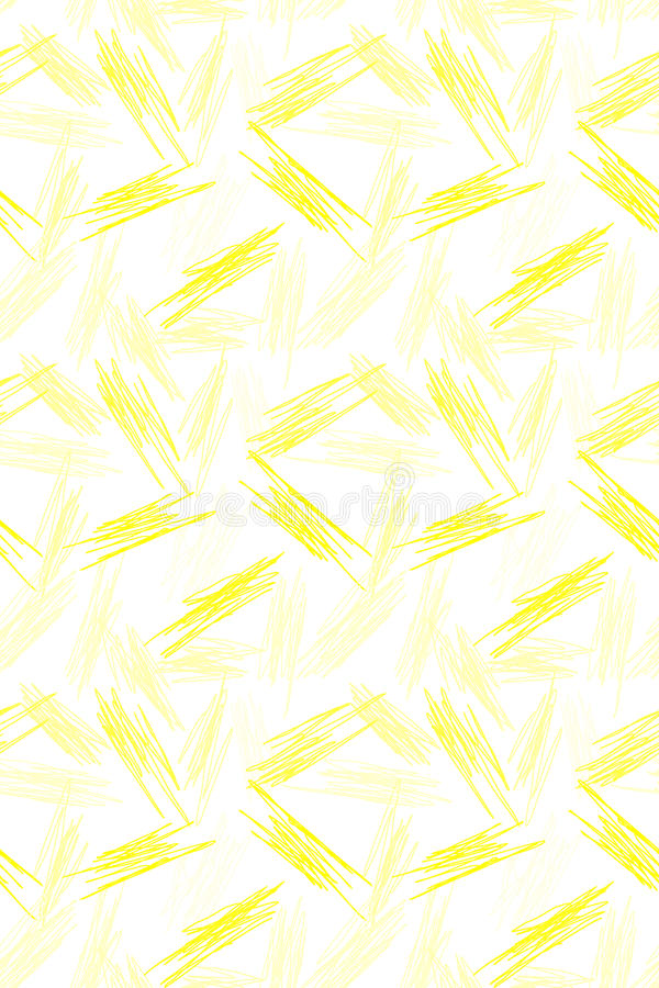 Seamless yellow scratches geometric pattern vector illustration