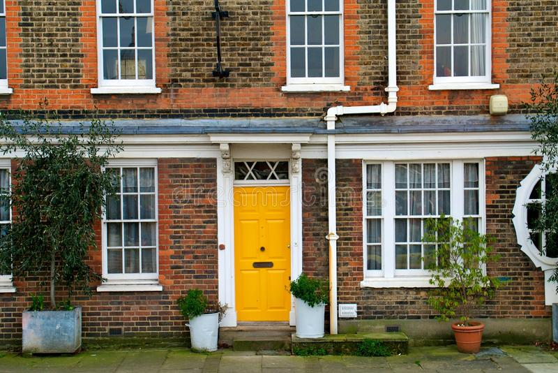 The yellow door royalty free stock photography